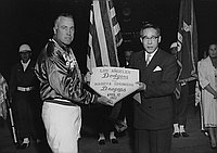 [Japan night at Dodger stadium, Los Angeles, California, April 12, 1962]