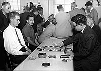 [Go tournament at Gokaisho in Sun building, Los Angeles, California, October 7, 1962]