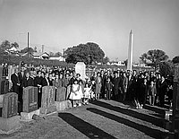 [Memorial service for Mr. Komai at Evergreen cemetery, Los Angeles, California, October 21, 1962]