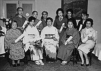 [Sewing class graduation at Miyako Hotel, Los Angeles, California, November 3, 1962]