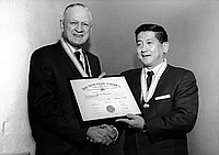 [Boy Scouts of America Silver Beaver award presentation to Ronnie Sugiyama, Los Angeles, California, February 2, 1963]