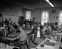 [Annual Go tournament at Gokaisho in Sun building, Los Angeles, California, May 26, 1963]