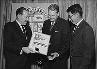 [Optimist Youth Appreciation Week, Los Angeles City Hall, Los Angeles, California, September 1963]