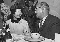 [Japan's healthiest boy and girl attending Japanese Chamber of Commerce meeting at Tokyo Kaikan, Los Angeles, California, January 9, 1964]