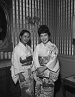 [New Fujiya Hotel women president from Japan at reception in Ambassador Hotel, Los Angeles, California, March 11, 1964]