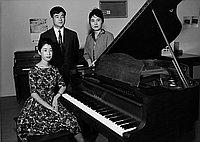 [Akatombo at Kawai piano, California, April 12, 1964]
