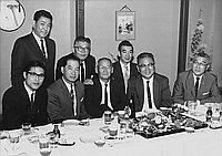 [Tokyo Mainichi staff at Eigiku restaurant, Los Angeles, California, April 30, 1964]