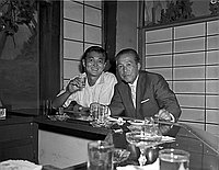 [Mr. Yasushi Inouye and Mr. Okubo at Eigiku, Los Angeles, California, 1964]