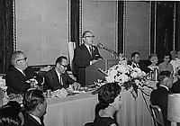 [Banquet for Toshiro Henry Shimanouchi, Consul General of Japan, at Statler Hilton, Los Angeles, California, ca. 1964?]