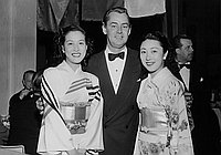 [Japanese actress Miki Sanjo at the Golden Globe Awards banquet at Club Del Mar, Santa Monica, California, January 1954]