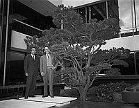 [Nunokawa Japanese garden in Occidental Center, Los Angeles, California, April 10, 1965]