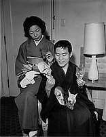 [Origami teacher Toyoaki Kawai and wife, Atsuko, Los Angeles, California, May 4, 1965]