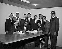 [New Ginza contract signing, Los Angeles, California, May 14, 1965]