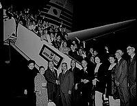 [Nihon Minyo Kyokai arriving at Los Angeles International Airport, Los Angeles, California, November 30, 1965]