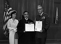 [Judge John Aiso receiving Legion of Merit, Los Angeles, California, 1965]
