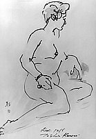 [Nude woman drawing by Toshio Kawai, California, January 12, 1966]