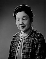 [Mrs. Tetsu Hitomi, head and shoulder portrait, Los Angeles, California, February 19, 1966]