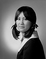 [Naomi Nagao, head and shoulder portrait, Los Angeles, California, March 27, 1966]