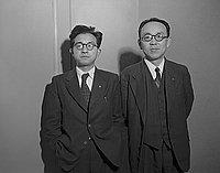 [Kiyoshi Yamaguchi and Kumio Shimizu from Japan, California, 1950]