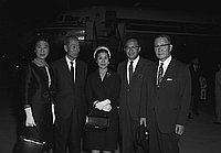[Foreign Minister group from Japan at airport, California, September 1966]
