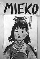 "[""Mieko"" painting of Leo Politi's book cover, California, September 1966]"