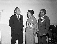 [Hosho Noh troupe at Koyasan Buddhist Temple, Los Angeles, California, November 12, 1966]