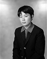 [Toshiko Saito, Karate san-dan, half-portrait, Los Angeles, California, December 3, 1966]
