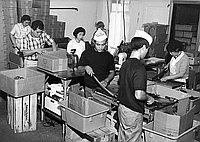 [Beef jerky production, California, 1966]