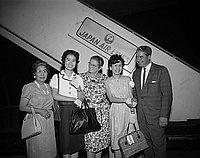 [Sister city delegation from Ashiya, Japan at Los Angeles International Airport, Los Angeles, California,July 1966]
