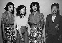 [Nisei student body officers of Foshay Junior High School, Los Angeles, California, January 16, 1951]