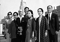 [Chinese Women's Class in front of Los Angeles City Hall, Los Angeles, California, June 6, 1967]