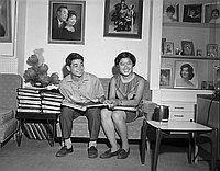 [Miss Okawa and Mr. Sato, skate champions, Los Angeles, California, September 7, 1967]