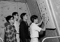 [Boy Scouts in space capsule, California, December 1967]