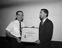 [Safety Merit Award presentation toJerome Sportswear, California, April 29, 1967]