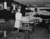 [Diane Kudo, contest winner at Haosuko Gem and Pearl Company in Kajima Building, Los Angeles, California, April 8, 1968]