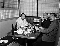 [Taro Okamoto at Kawafuku restaurant, Los Angeles, California, May 11, 1968]