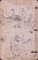 "Printing ""Hikari"", Santa Fe D.S. : ""Santafe Times"" printing shop, 7-17-43, 9 PM"