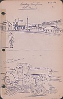 Lordsburg town from behind, 3-12-43