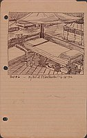 Tent #6 - My Bed at Ft. Sam Houston - 6-15-42