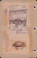 Lordsburg, New Mex. internment camp, 1st nite, 6-18-42, 9:30 PM.