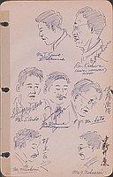 [Portraits of Tokizo Kanno, Rev. Ryuten Kashiwa (Hawaii Hongwaii Bishop), Shigeru Ando, Jack S. Mayemura, Tokuji Sato, Jinji Murakami, Yasushi Nakaarai]