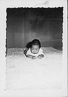 [Infant lying on stomach, Rohwer, Arkansas]