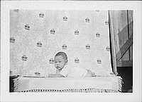 [Infant on lying on stomach, facing left, Rohwer, Arkansas, September 23, 1944]