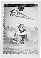 [Toddler in sailor outfit, Rohwer Arkansas, May 24, 1944]