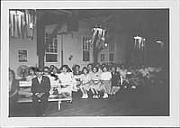 [Audience under lights covered by stars and streamers, Rohwer, Arkansas]