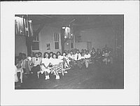 [Audience at June Serenade, Rohwer, Arkansas, June 2, 1945]