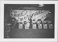 [Band playing at June Serenade, Rohwer, Arkansas, June 2, 1945]