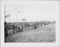[Parade or procession on field, Rohwer, Arkansas, 1942-1945]