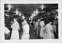 [People shopping in canteen, Rohwer, Arkansas, August 28, 1944]