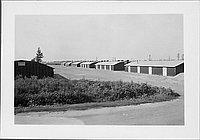 [Barracks along dirt road, Rohwer, Arkansas, August 19, 1944]